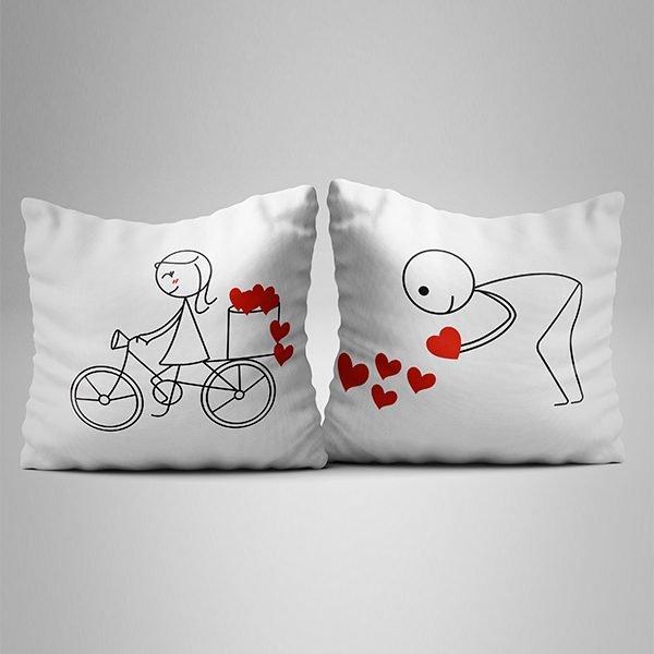 cojines bici corazon