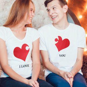 pareja corazón puzle i love you